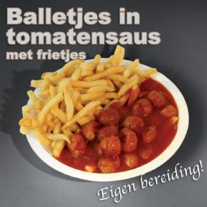 bereiding Balletjes in tomatensaus
