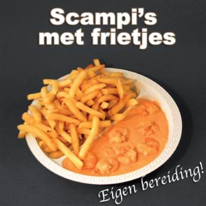 bereiding Scampi's met frietjes