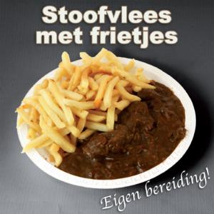 bereiding Stoofvlees met frietjes