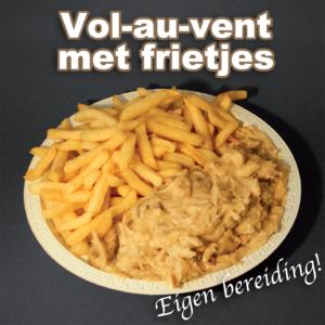 bereiding Vol-au-vent met frietjes